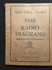 MOST OFTEN NEEDED 1948 RADIO DIAGRAMS & SERVICING INFORMATION PAPERBOUND