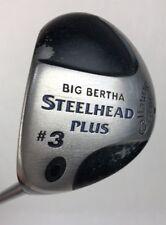 Callaway Big Bertha Steelhead Plus Left Handed 3 Wood Firm Flex Graphite Shaft