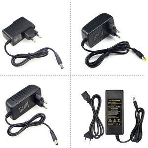 EU Plug 1A 2A 3A 5A Power Supply Adapter 100V- 240V to 12V Lighting Transformer