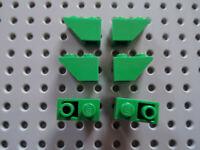 Lego 10x Stein 1x2 Dach negativ 3665 blau ebl127