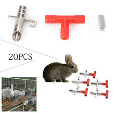 10 Sets Rabbit Nipple Automatic Water Drinker Fedder Bunny Rodent Mouse Drink