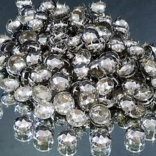 25 Large Domed 7 Prong Silver Studs 22 mm Denim Leather Shoes Upholstery Crafts