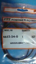 "Pomona 4652-24 minigrabber test clip to minigator clip  1 blk 24"""