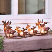 Christmas Reindeer Elk Sleigh CandleHolder
