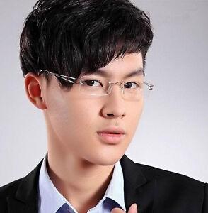 Pure Titanium men women lightweight Eyeglass Frames Rimless Glasses Spectacles