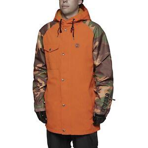 Snowboard Jacket Mens XL Orange Camo Thirtytwo Knox Jacket Ski