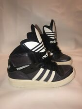 RARE Adidas ORIGINALS Sneakers GIANT TREFOIL High Tops FITS Wmns 8 & Mens 6 UK