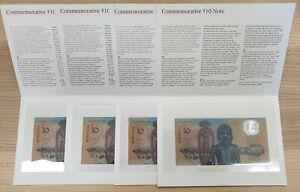 4x Australian 1988 Johnston-Fraser Bicentennial $10 Banknotes AA04