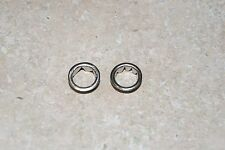 TWO  NICKELLED GROMMETS 1/2 NEW CLOCK PARTS