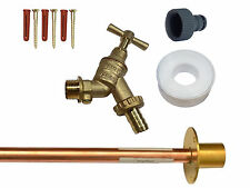 Outside Tap Kit With Through Wall Flange, Double Check Valve and Hose Fitting