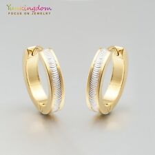 Gold Plated Lady Girl Ear Jewelry Gold  Color Hoop Earrings Ear Stud For Present