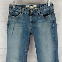 GAP Womens Size 6 Ankle Stretch Blue Medium Wash Slim Straight Leg Denim Jeans