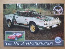 HAWK CARS LTD HF 2000 & 3000 orig 2000 UK Mkt Leaflet Brochure - Lancia Stratos
