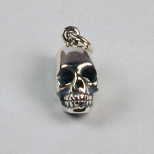Sterling Silver SKULL Charm 12mm Free Shipping & Zipper Pull