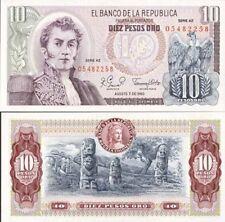 Colombie - Colombia billet neuf de 10 pesos oro pick 407 UNC