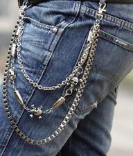 2 Style Mens Skull Strong Leash Heavy Wallet Chains Biker Trucker Jean Key Chain