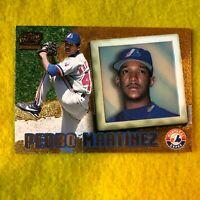 PEDRO MARTINEZ , EXPOS , 1998 PACIFIC INVINCIBLE MLB BASEBALL CARD #115 RARE