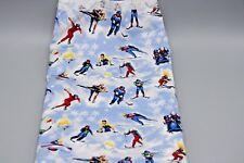 Northcott  Fabric Winter Sports 2332 by Laurie Godin 100 Percent Cotton Remnant