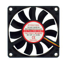 Evercool EC7015H12BP 70mm x 15mm 12V 2 Ball CPU Cooling Fan 4 Pin PWM