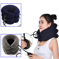 new professional Air Inflatable Pillow Cervical Neck Head Traction Support Brace