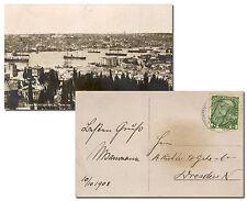 Österreich Post in der Levante 1908, Foto-AK CONSTANTINOBLE nach Deutschland
