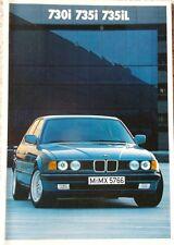 Prospekt BMW 7er E32 730i - 735i - 735iL - 1/87 -  48 Seiten!