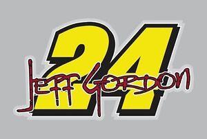 Jeff Gordon Graphic Vinyl Decal #24 Nascar Sticker