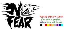 "No Fear #8 Funny Vinyl Decal Sticker Car Window bumper laptop tablet Boat 7"""