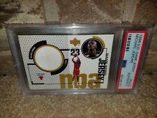 1998 UpperDeck Game Jersey Michael Jordan Rare White Parrell PSA(9)-(9.5)?POP(1)