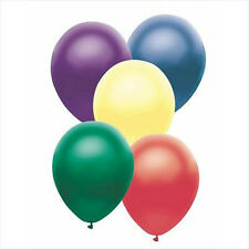 METALLIC LATEX BRIGHT COLOURED  BALLOONS *** PACK OF 50 ***