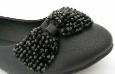New Fashion Casual Black Ballet Flats Shoes with Sparkling Bow Size 7 Lorita39