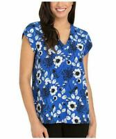 NEW Hilary Radley Women Short Sleeve V-Neck Blouse