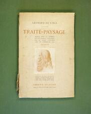 LEONARD DE VINCI - TRAITE DU PAYSAGE 1921