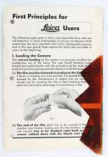 "Original Leica Instruction Manual  ""How to Load Film"" - Leitz NY - Dec. 1935"