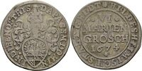 Hildesheim, Stadt 6 Mariengroschen 1674 Harz Silber #KR21