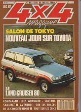 4 X 4 MAGAZINE. N° 99.12/89. LAND CRUISER 80. SALON DE TOKYO. SANTANA. SAMURAI