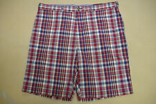 """NEW NWT TOMMY HILFIGER MENS CASUAL SHORTS SIZE 40W x 11IN 40"""" WAIST RED PLAID"""