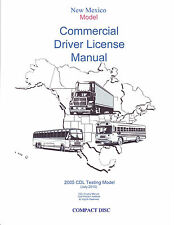 COMMERCIAL DRIVER'S MANUAL FOR CDL TRAINING (NEW MEXICO) ON CD IN PDF PROGRAM.