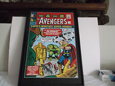 Avengers #1 Marvel Giclee Canvas Art  #15 Out of 50 Signed by Stan Lee COA