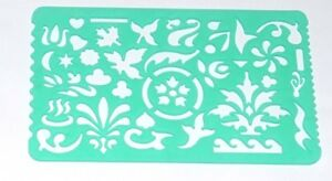 Artistic template Stencil Template Various Shapes, Attractive Designs