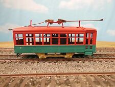 HO SCALE BRASS KEN KIDDER SINGLE TRUCK BIRNEY TROLLEY PAINTED