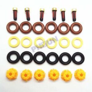 6 Sets Fuel Injector Repair Seal Kit For BMW E60 E39 520i 523i 525i 528i E36 E34