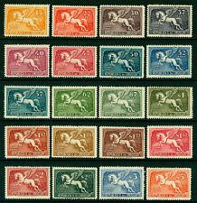 URUGUAY  1935  AIRMAIL - PEGASUS - complete set  Sc# C63-C82  mint MH  VF