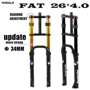 """Fat Fork Rebound Adjustment Fat Bicycle 26"""" 4.0"""" Double Shoulder Air Fork 135mm"""