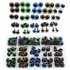 264 Pcs 6~12mm Colorful Safety Eyes Plastic with Washers for Doll Puppet Plush