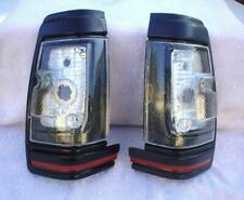 Black Clear Side Marker Lights Pair Fits 1983 - 1986 Datsun Nissan 720 Pick Up