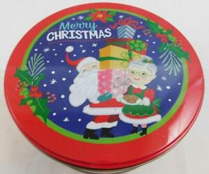 Celebrate It Christmas Holiday Tin Container New Cookie Marry Christmas 8 in