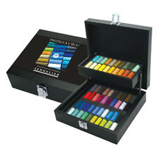 Sennelier Soft Pastel Black Wood Box Set of 60 Half Sticks