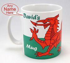 Flag Mug Cymru Wales Welsh Dragon Welshman Birthday Idea personalised Taffy Gift