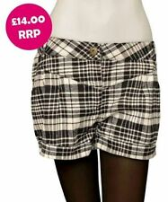 Checked Hot Pants Plus Size Shorts for Women
